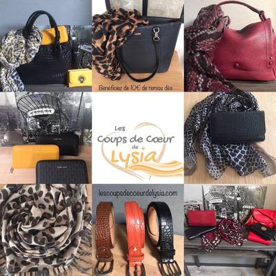 Profitez de la remise de 10€ dès 50€ d'achats (codeKDO)pour commencer vos achats de Noël. www.lescoupsdecoeurdelysia.com #cadeaunoel  #sacs  #echarpe  #foulard
